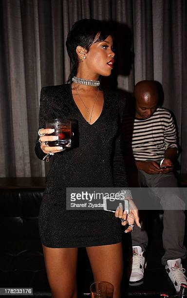 Rihanna attends the 2013 VMA After Party at PhD on August 25, 2013 in New York City.