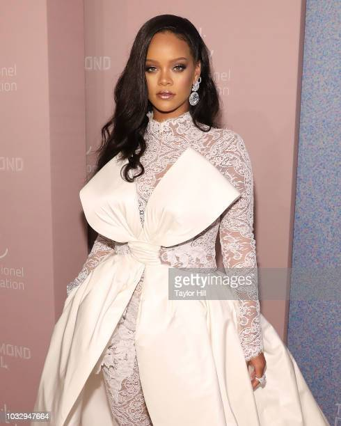 Rihanna attends the 2018 Diamond Ball at Cipriani Wall Street on September 13 2018 in New York City