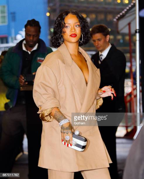 Rihanna attends the 69th Annual Parsons Benefit at Pier 60 on May 22, 2017 in New York City