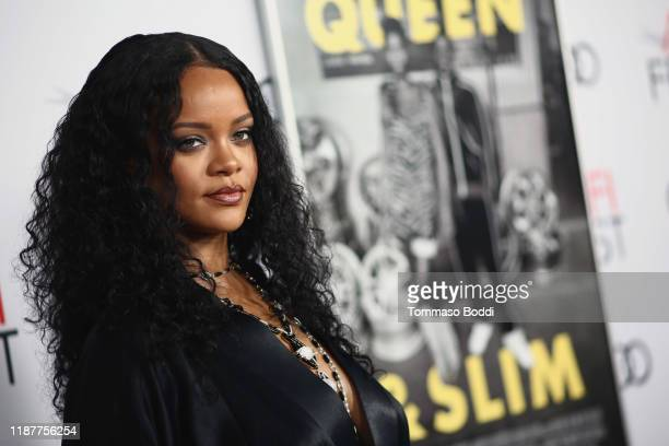 """Rihanna attends the AFI FEST 2019 Presented By Audi premiere of """"Queen & Slim"""" at TCL Chinese Theatre on November 14, 2019 in Hollywood, California."""
