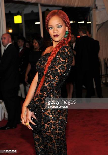 Rihanna attends the 'Alexander McQueen Savage Beauty' Costume Institute Gala at The Metropolitan Museum of Art on May 2 2011 in New York City