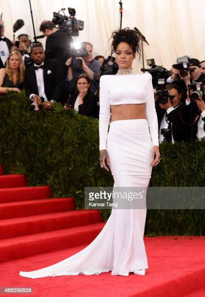 Rihanna attends the 'Charles James Beyond Fashion' Costume Institute Gala held at the Metropolitan Museum of Art on May 5 2014 in New York City