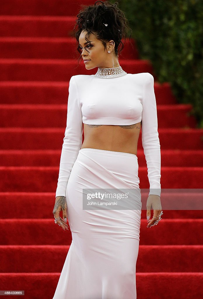 Rihanna attends the 'Charles James: Beyond Fashion' Costume Institute Gala at the Metropolitan Museum of Art on May 5, 2014 in New York City.