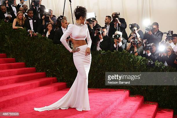 Rihanna attends the Charles James Beyond Fashion Costume Institute Gala at the Metropolitan Museum of Art on May 5 2014 in New York City