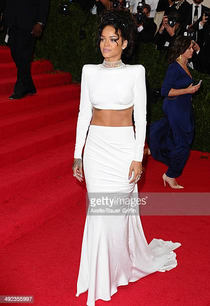 Rihanna attends the 'Charles James Beyond Fashion' Costume Institute Gala at the Metropolitan Museum of Art on May 5 2014 in New York City