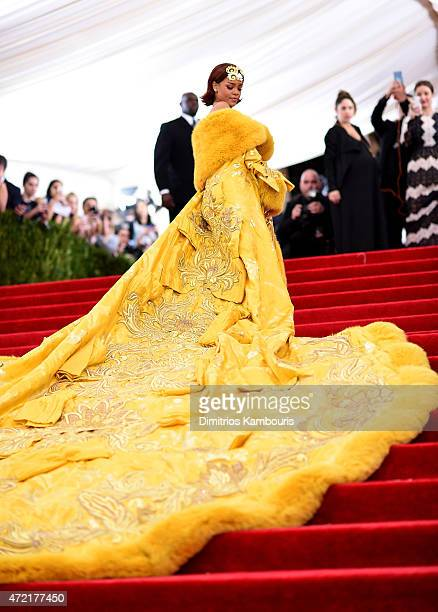 Rihanna attends the China Through The Looking Glass Costume Institute Benefit Gala at the Metropolitan Museum of Art on May 4 2015 in New York City