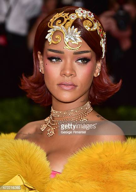 Rihanna attends the 'China Through The Looking Glass' Costume Institute Benefit Gala at Metropolitan Museum of Art on May 4 2015 in New York City