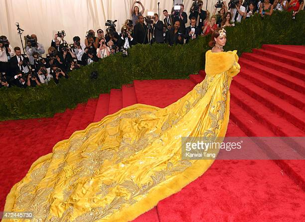 "Rihanna attends the ""China: Through The Looking Glass"" Costume Institute Benefit Gala at Metropolitan Museum of Art on May 4, 2015 in New York City."