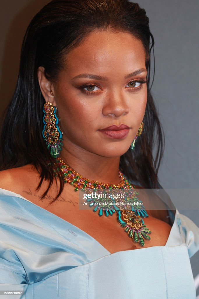 Rihanna attends the Chopard Party during the 70th annual Cannes Film Festival at on May 19, 2017 in Cannes, France.