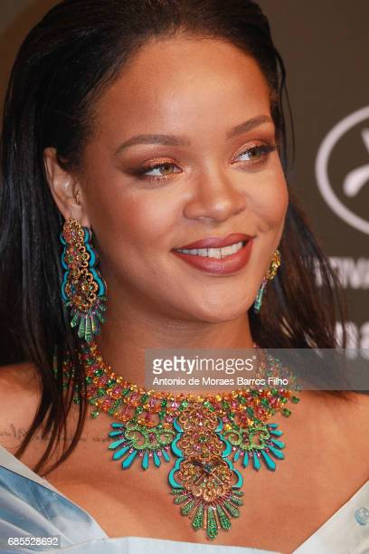 Rihanna attends the Chopard Party during the 70th annual Cannes Film Festival at on May 19 2017 in Cannes France