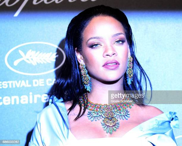 Rihanna attends the Chopard 'SPACE Party' hosted by Chopard's copresident Caroline Scheufele and Rihanna at Port Canto on May 19 in Cannes France
