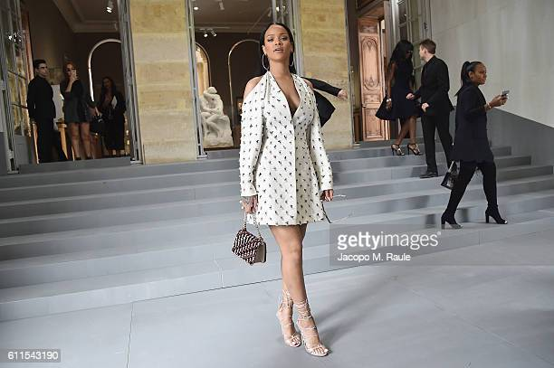 Rihanna attends the Christian Dior show as part of the Paris Fashion Week Womenswear Spring/Summer 2017 on September 30, 2016 in Paris, France.