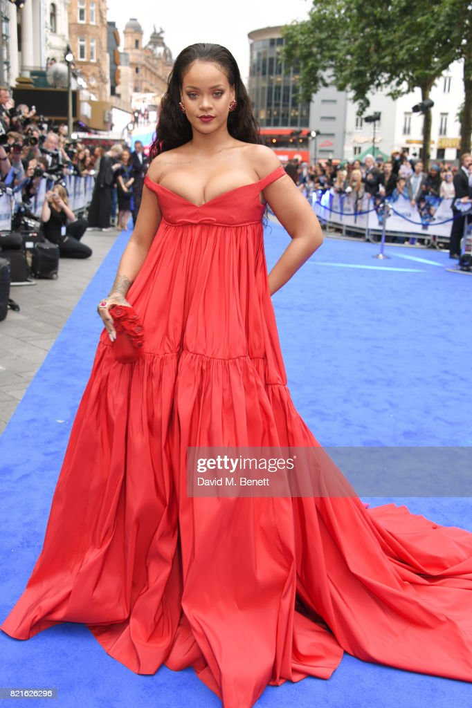 Rihanna attends the European Premiere of 'Valerian And The City Of A Thousand Planets' at Cineworld Leicester Square on July 24, 2017 in London, England.