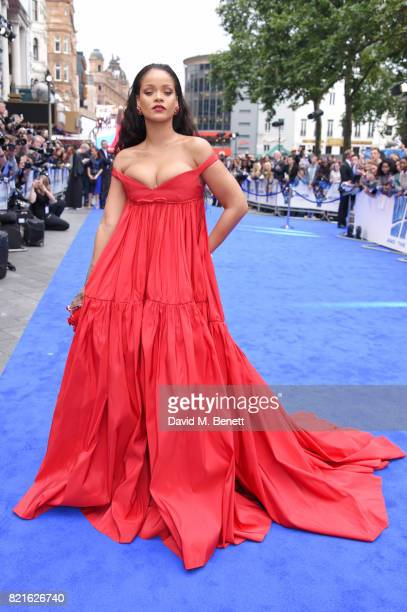 Rihanna attends the European Premiere of 'Valerian And The City Of A Thousand Planets' at Cineworld Leicester Square on July 24 2017 in London England