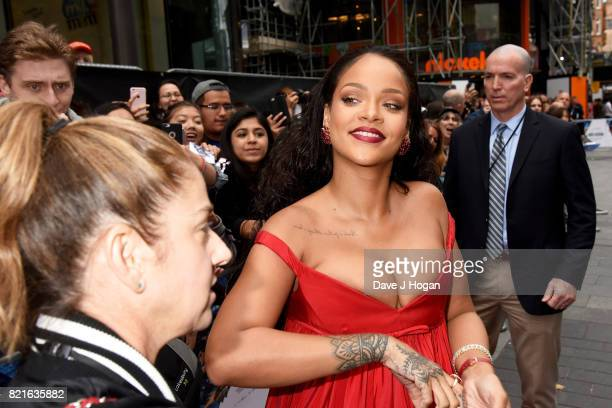 Rihanna attends the European premiere of Valerian and The City of a Thousand Planets at Cineworld London on July 24 2017 in London England