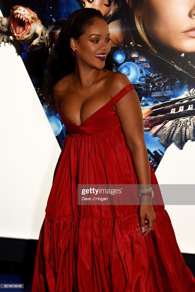 Rihanna attends the European premiere of 'Valerian and The City of a Thousand Planets' at Cineworld London on July 24, 2017 in London, England.