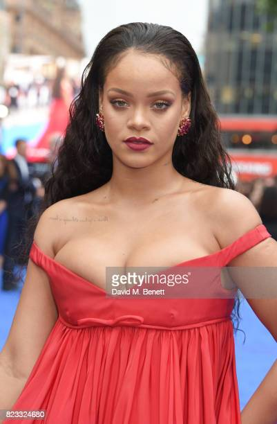 Rihanna attends the European Premiere of Valerian And The City Of A Thousand Planets at Cineworld Leicester Square on July 24 2017 in London England