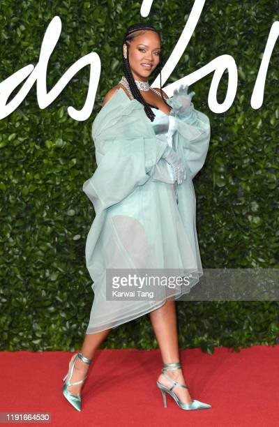 Rihanna attends The Fashion Awards 2019 at the Royal Albert Hall on December 02 2019 in London England