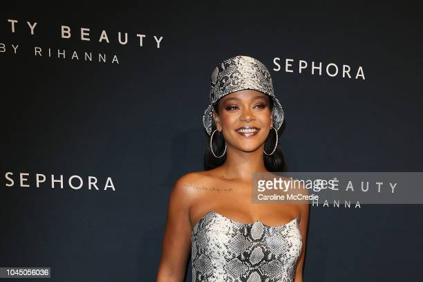 Rihanna attends the Fenty Beauty by Rihanna Anniversary Event at Overseas Passenger Terminal on October 3 2018 in Sydney Australia