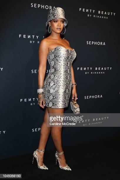 Rihanna attends the Fenty Beauty by Rihanna Anniversary Event at Overseas Passenger Terminal on October 3 2018 in Sydney Australia