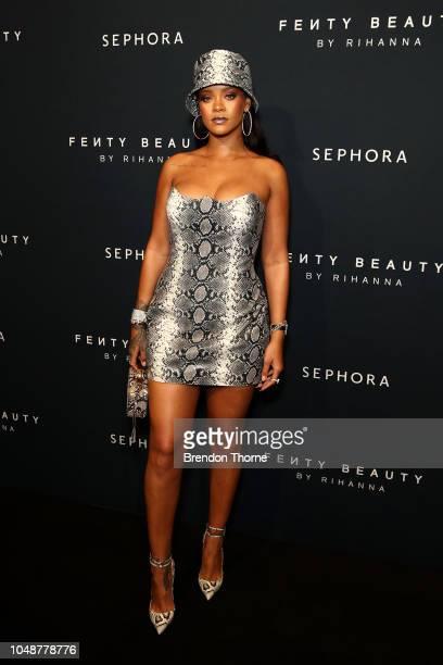 Rihanna attends the Fenty Beauty by Rihanna Anniversary Event on October 03 2018 in Sydney Australia