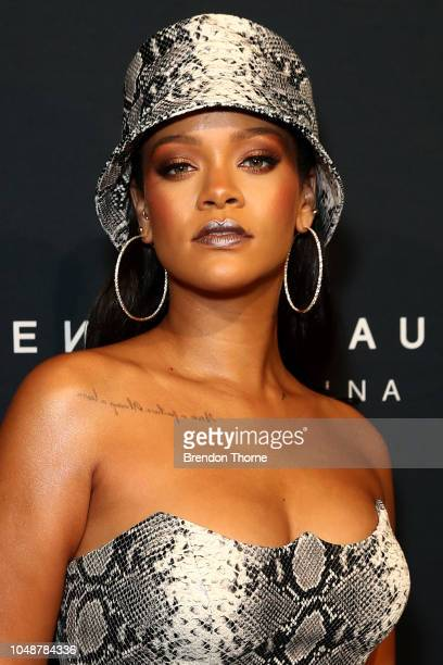 Rihanna attends the Fenty Beauty by Rihanna Anniversary Event on October 03 2018 in Sydney Australia