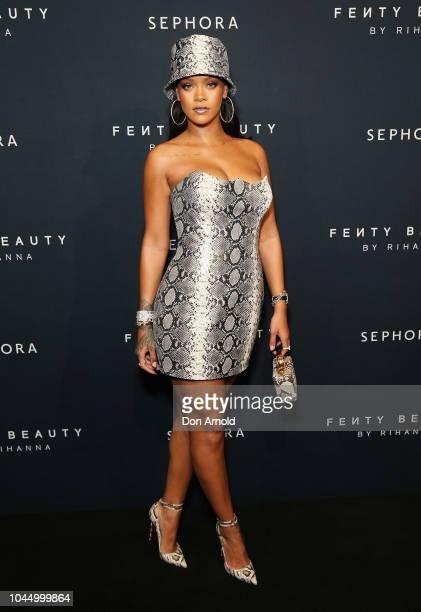 Rihanna attends the Fenty Beauty by Rihanna Anniversary Event on October 3 2018 in Sydney Australia