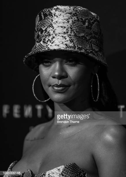 Rihanna attends the Fenty Beauty by Rihanna Anniversary Event on October 3 2018 in Sydney Australia