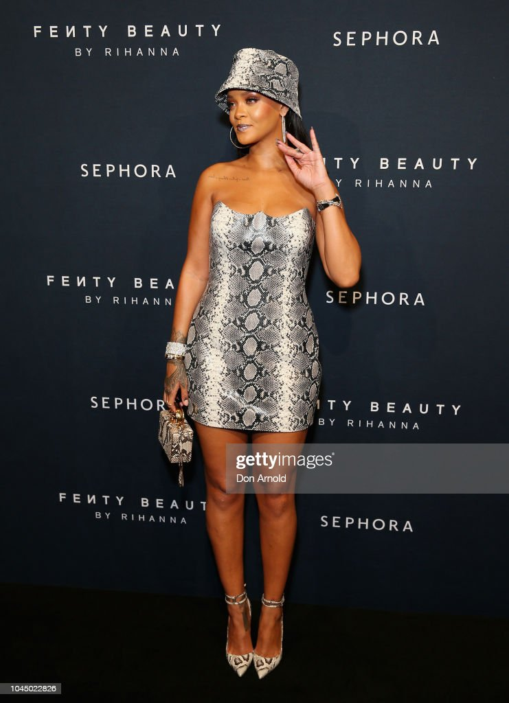 Fenty Beauty by Rihanna Anniversary Event - Arrivals : News Photo
