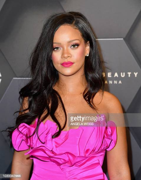 Rihanna attends the Fenty Beauty by Rihanna event at Sephora on September 14 2018 in Brooklyn New York