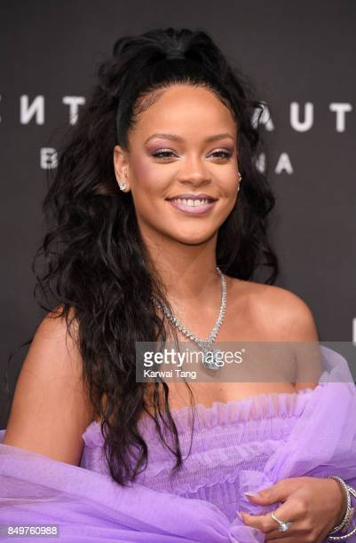 Rihanna attends the 'FENTY Beauty' by Rihanna launch Party at Harvey Nichols Knightsbridge on September 19 2017 in London England
