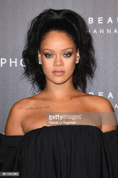 Rihanna attends the Fenty Beauty by Rihanna Paris launch party hosted by Sephora at Jardin des Tuileries on September 21 2017 in Paris France