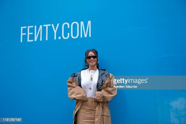 Rihanna attends the Fenty Exclusive Preview on May 23 2019 in Paris France