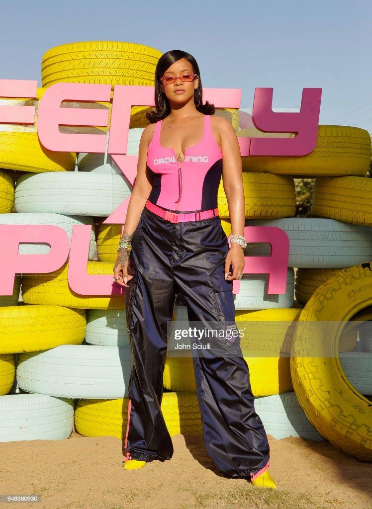 Rihanna and PUMA Gear up for Summer '18 at Coachella : News Photo