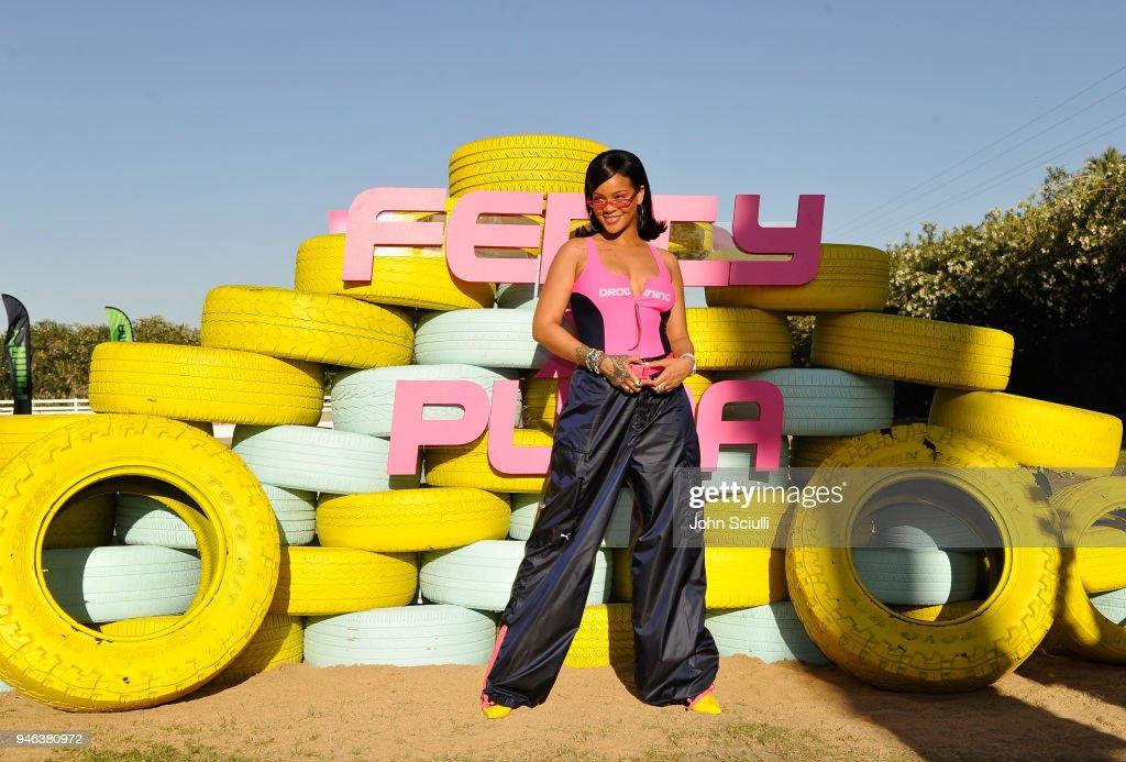 Rihanna and PUMA Gear up for Summer '18 at Coachella : ニュース写真