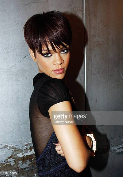 Rihanna attends the Good Girl Gone Bad screening party on June 17 2008 at Guesthouse in New York