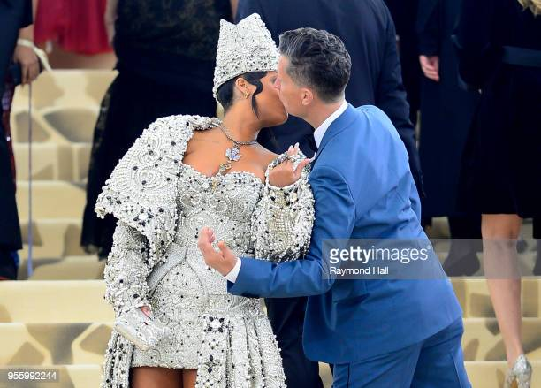 Rihanna attends the Heavenly Bodies: Fashion & The Catholic Imagination Costume Institute Gala at The Metropolitan Museum of Art at on May 7, 2018 in...