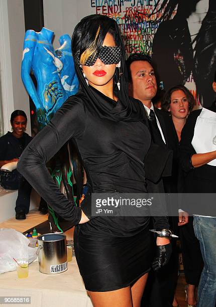 Rihanna attends the Intermix celebration of Fashion's Night Out at Intermix Soho on September 10 2009 in New York City