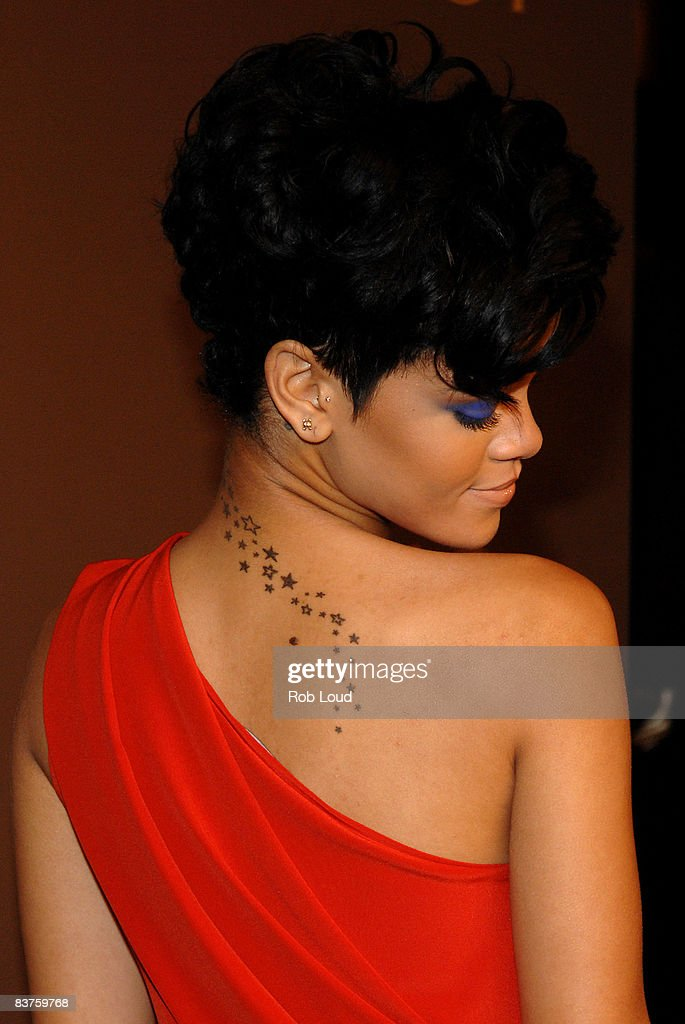 Rihanna attends the launch of Gucci's Tattoo Heart Collection to benefit UNICEF at Gucci's 5th Avenue store on November 19, 2008 in New York City.