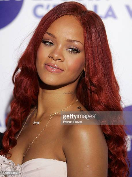 Rihanna attends the 'Nivea And Rihanna Celebrating 100 Years Of Skincare' photocall at Grand Hotel Intercontinental on May 6 2011 in Paris France