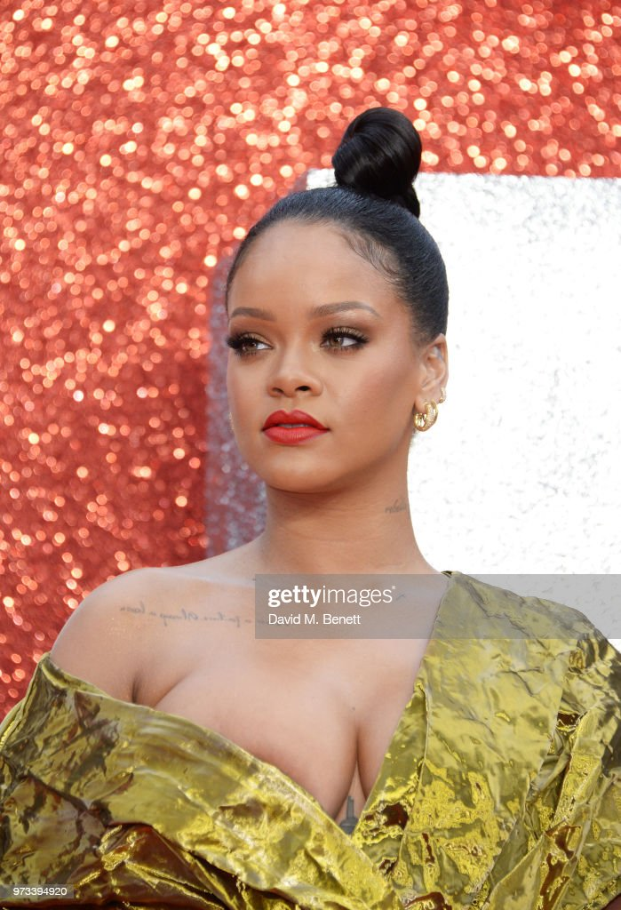 Rihanna attends the 'Ocean's 8' UK Premiere held at Cineworld Leicester Square on June 13, 2018 in London, England.