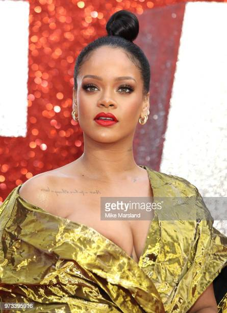 Rihanna attends the 'Ocean's 8' UK Premiere held at Cineworld Leicester Square on June 13 2018 in London England