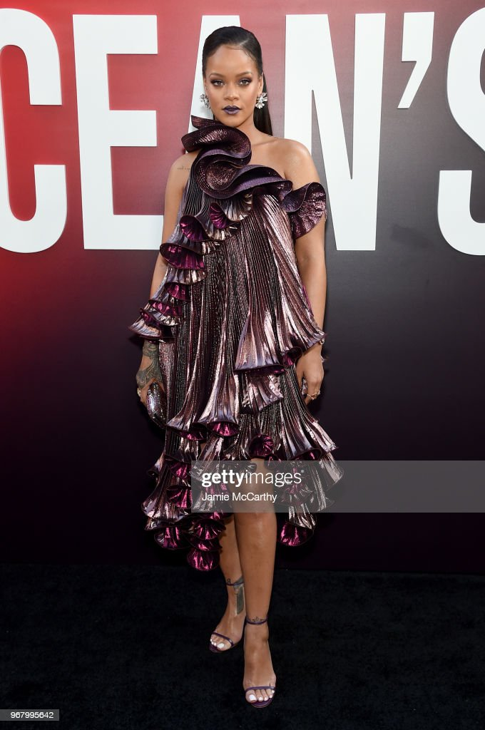 Rihanna attends the 'Ocean's 8' World Premiere at Alice Tully Hall on June 5, 2018 in New York City.