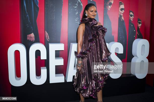 Rihanna attends the Ocean's 8 World Premiere at Alice Tully Hall on June 5 2018 in New York City