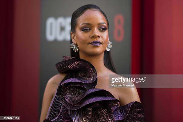 Rihanna attends the 'Ocean's 8' World Premiere at Alice Tully Hall on June 5 2018 in New York City
