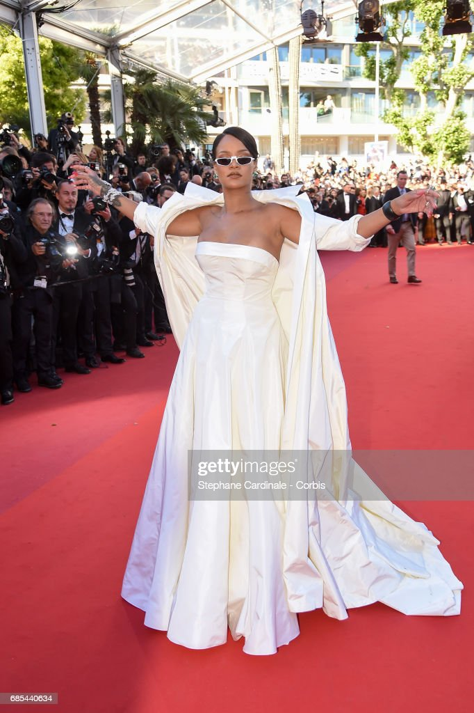 Rihanna attends the 'Okja' premiere during the 70th annual Cannes Film Festival at Palais des Festivals on May 19, 2017 in Cannes, France.