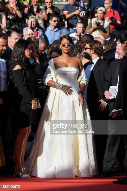 Rihanna attends the 'Okja' premiere during the 70th annual Cannes Film Festival at Palais des Festivals on May 19 2017 in Cannes France