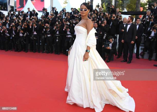 Rihanna attends the Okja screening during the 70th annual Cannes Film Festival at Palais des Festivals on May 19 2017 in Cannes France