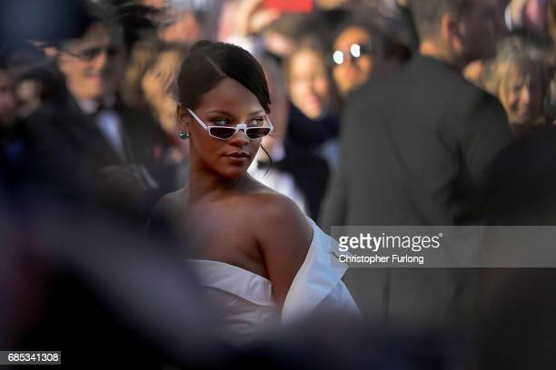 Rihanna attends the 'Okja' screening during the 70th annual Cannes Film Festival at Palais des Festivals on May 19 2017 in Cannes France on May 19...
