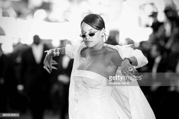 Rihanna attends the 'Okja' screening during the 70th annual Cannes Film Festival at on May 19 2017 in Cannes France